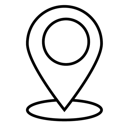 outline location icon on white background. flat style. outline map icon for your web site design, logo, app, UI. location sign. pointer line symbol.