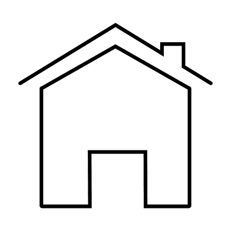 home icon on white background. flat style. home icon for your web site design, logo, app, UI. outline home symbol. home line sign. modern home line icon.