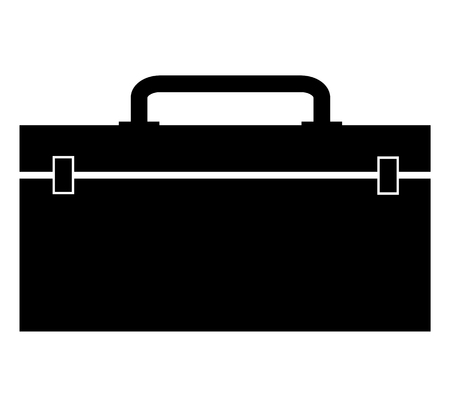 tool box icon on white background. flat style. tool box icon for your web site design, logo, app, UI. construction toolbox symbol. black toolbox sign. Иллюстрация