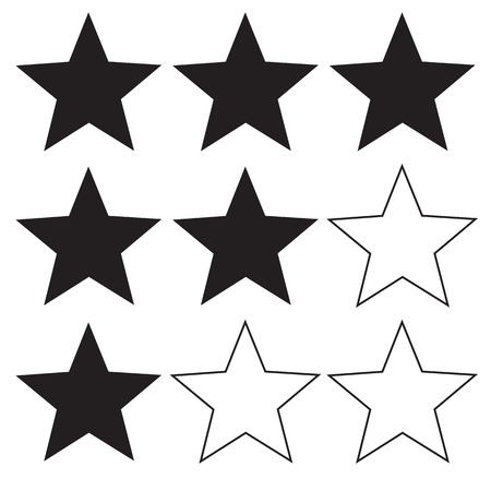 star rating icon on white background. flat style. star icon for your web site design, logo, app, UI. level symbol. logo element sign. 向量圖像