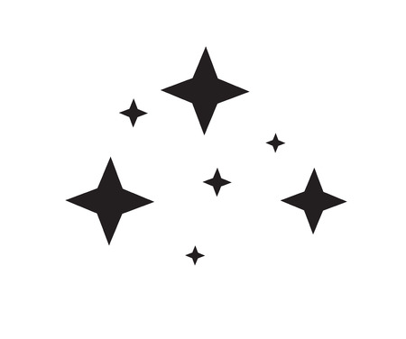 black glittering star light on white background. flat style. star sparkling icon for your web site design, logo, app, UI. twinkling logo.