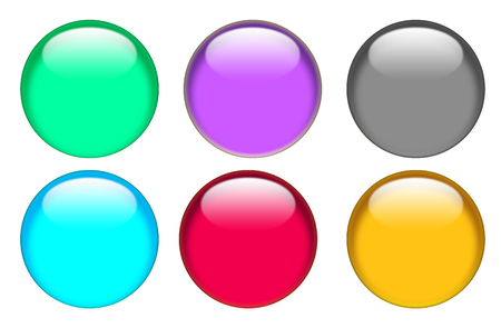 web button icon on white background. flat style. button for your web site design, logo, app, UI. glassy button set sign. Imagens