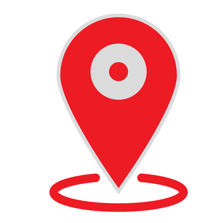 location map icon on white background. flat style. location map icon for your web site design, logo, app, UI. gps pointer mark symbol. gps pointer mark sign. Ilustração