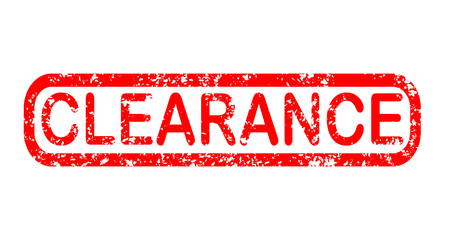 clearance stamp red rubber stamp on white background. clearance stamp sign. clearance stamp.