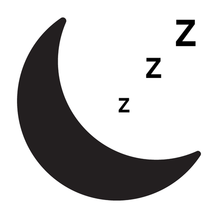 sleep icon on white background. flat style. sleep icon for your web site design, logo, app, UI. sleeping symbol. sleeping sign. 向量圖像