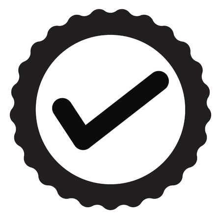 approved certificate icon on white background. flat style. approved icon for your web site design, logo, app, UI. check mark symbol. accepted sign. award seal business sign. 向量圖像