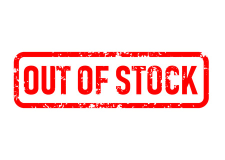 out of stock stamp red rubber stamp on white background.out of stock stamp sign. out of stock stamp. out of stock sign. 版權商用圖片