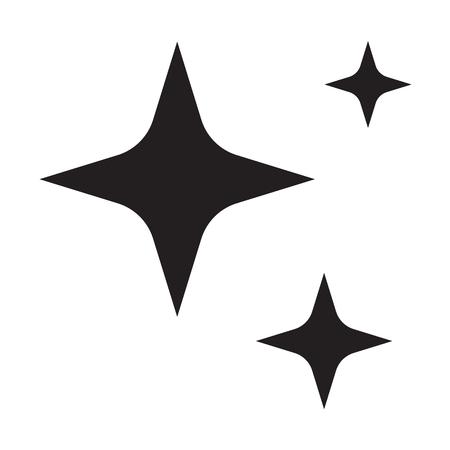 sparkles star icon on white background. flat style. sparkles star icon for your web site design, logo, app, UI. shine symbol. shining sign.