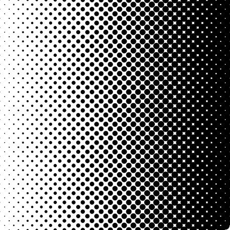 horizontal gradient halftone dots backgrounds. black dots on white background. gradient dots background. pop art template. grunge halftone texture.