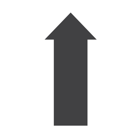 arrow up icon on white background. flat style. arrow up icon for your web site design, logo, app, UI. arrow symbol. arrow up black sign.