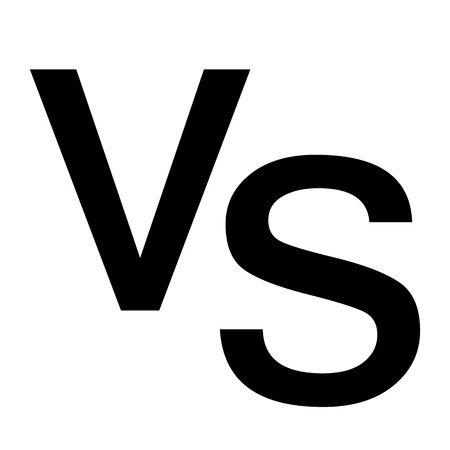 versus vs letters icon on white background. flat style. versus logo for your web site design, logo, app, UI. versus symbol. versus sign. Banque d'images - 120494953