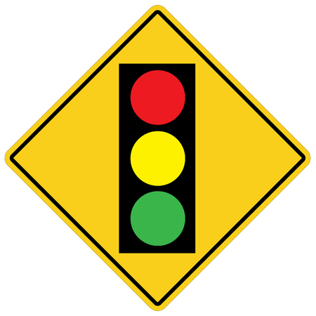 traffic light on white background. flat style. traffic sign for your web site design, logo, app, UI. traffic signal symbol. traffic light warning sign. 向量圖像