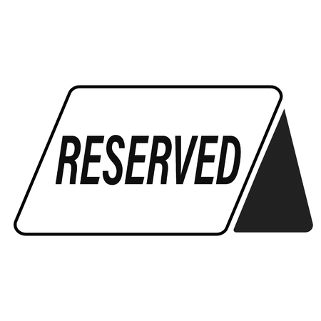 reserved icon on white background. flat style. reserved icon for your web site design, logo, app, UI. black reserved table symbol.