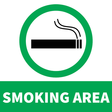 smoking area icon on white background. flat style. smoke area icon for your web site design, logo, app, UI. smoking symbol. smoking area sign. Illusztráció