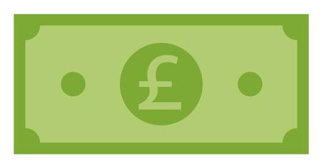 pound icon on white background. flat style. pound icon for your web site design, logo, app, UI. green pound symbol. euro vector icon sign.
