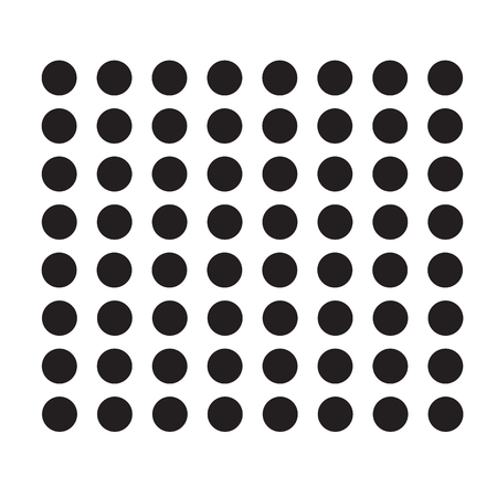 polka dot icon on white background. flat style. polka dot icon for your web site design, logo, app, UI. black dots symbol.
