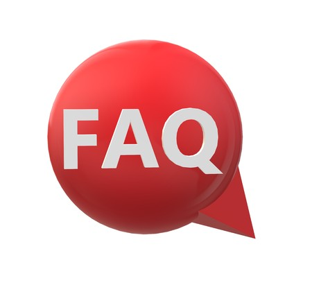 3D red faq icon on white background. flat style. 3d faq icon for your web site design, logo, app, UI. 3d faq symbol. faq information sign.
