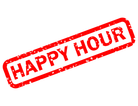 happy hour stamp red rubber stamp on white background. happy hour stamp sign. happy hour sign.
