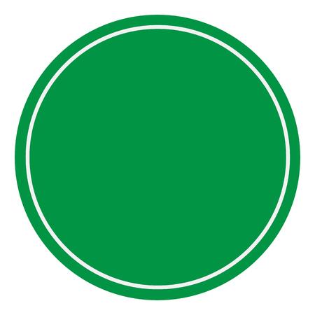 blank green sign. empty green symbol on white background. empty warning sign. green traffic symbol.
