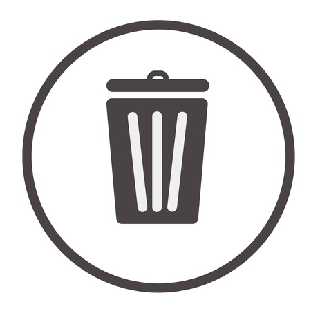trash icon on white background. flat style. trash icon for your web site design, logo, app, UI. delete symbol. trash can sign.