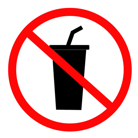 Do not drink icon on white background. flat style. no drinking icon for your web site design, logo, app, UI. prohibition sign for drinking symbol. no drink sign.