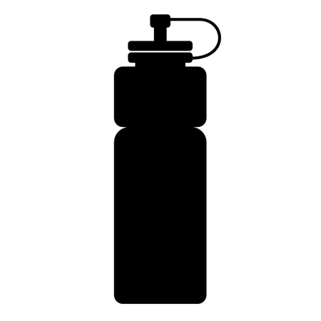 sports water bottle icon on white background. flat style. sports water bottle icon for your web site design, logo, app, UI. water bottle symbol. water bottle sign. 向量圖像