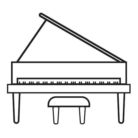 Upright piano icon on white background. flat style. Grand piano icon for your web site design, logo, app, UI. music instrument symbol. piano sign.