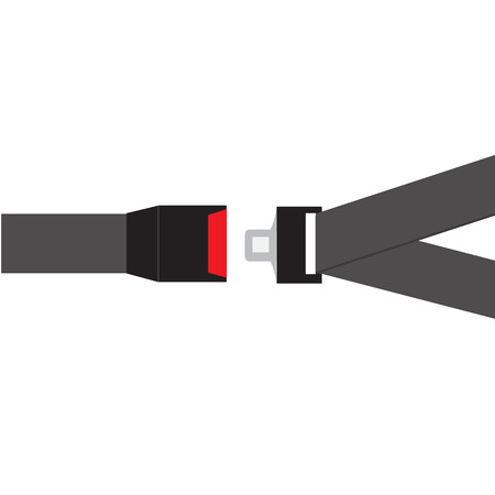 seat belt icon on white background. flat style. safety belt icon for your web site design, logo, app, UI. open and closed safety belt symbol. belt car sign.