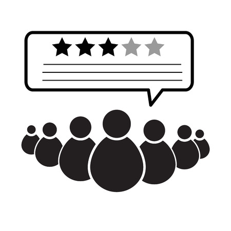 customer rating icon on white background. flat style. feedback icon for your web site design, logo, app, UI. customer review sign. online survey symbol. concept of feedback.