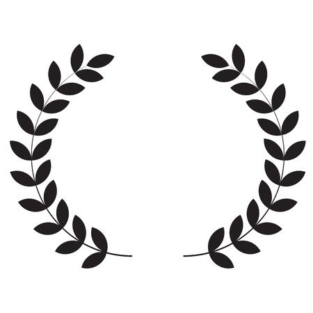 Laurel wreaths icon on white background. flat style. Laurel wreaths icon for your web site design Иллюстрация