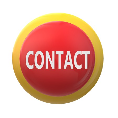 3D contact on white background. flat style. 3D contact sign for your web site design