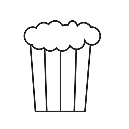popcorn icon on white background. flat style. Monochrome style icon for your web site design, logo, app, UI. Pixel perfect popcorn symbol. popcorn sign.