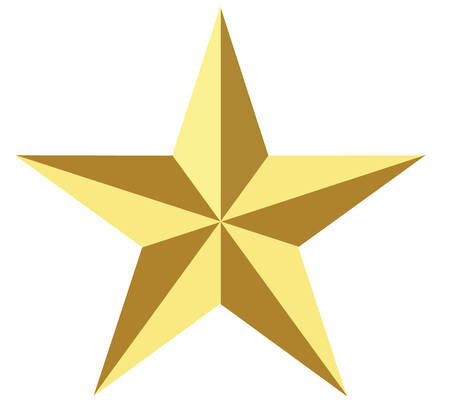 gold star icon on white background. flat style.gold star icon for your web site design