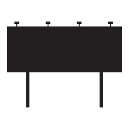 Blank billboard on white background. flat style. Advertising board for your web site design, logo, app, UI. billboard symbol. Blank Advertising sign.