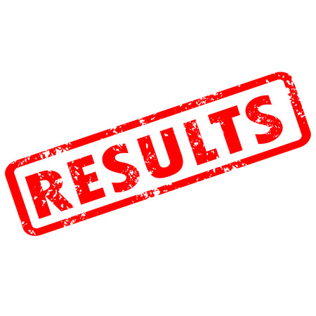 results stamp red rubber stamp on white background. results stamp sign. results stamp symbol.