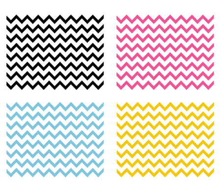 4 Chevron seamless patterns. Chevron background. Zig Zag wallpaper.  向量圖像