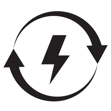 energy icon on white background. flat style. energy icon for your web site design