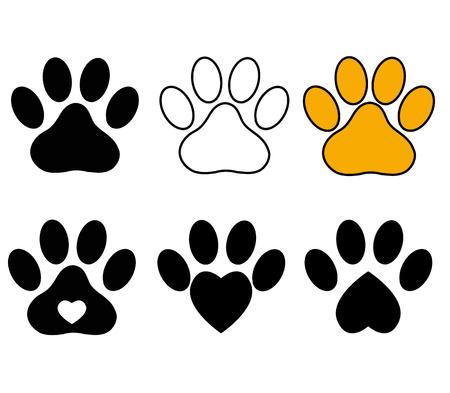Paw Print on white background. Dog Paw sign. Cat Paw sign. Animal symbol.