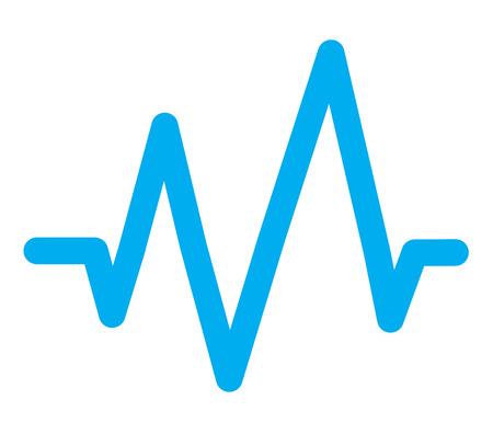 blue sound wave icon on white background. flat style. blue sound wave icon for your web site design