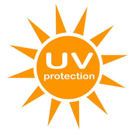 uv protection icon on white background. flat style. UV radiation icon for your web site design