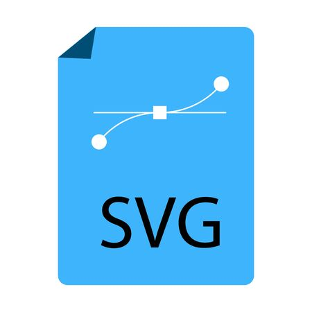 blue SVG File Document icon on white background. flat style. blue SVG File icon for your web site design