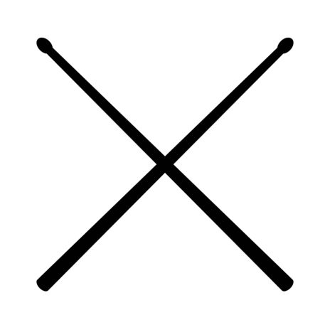 drum sticks icon on white background. flat style. Drumsticks icon for your web site design