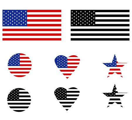 United States flag on white background. flat style. Flag of the United States sign for your web site design