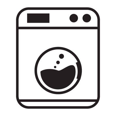 Laundry Service icon on white background. flat style. Icon design laundry business concept. Washing Machine symbol. Laundry machine logo. Иллюстрация