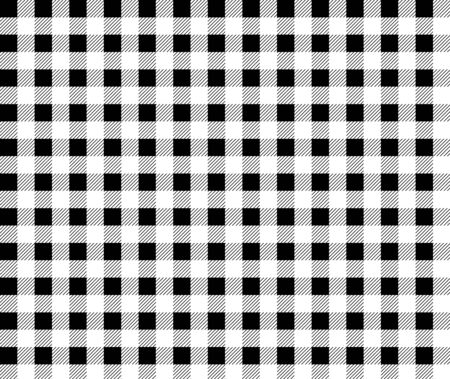 textured black and white plaid background. tablecloth background black seamless pattern.