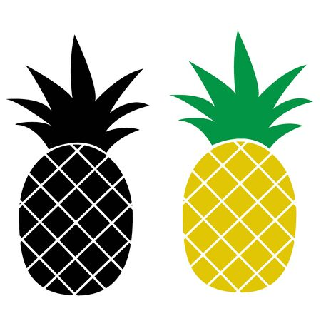 Pineapple icon on white background. flat style. Pineapple Tropical icon for your web site design. Pineapple Tropical Fruit symbol.