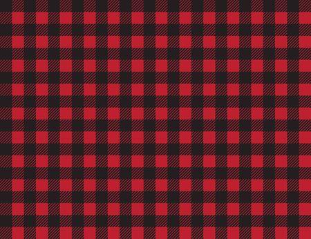 buffalo plaid pattern. red and black squares seamless background. ruby lumberjack buffalo plaid seamless pattern.