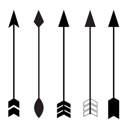 arrow icon on white background. flat style. split arrow icon for your web site design, logo, app, UI. camping symbol. black arrow sign.