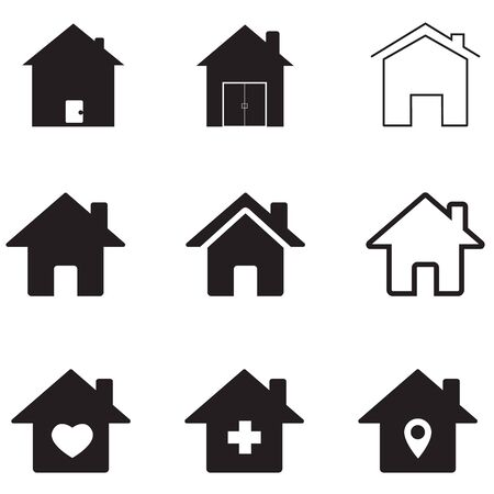 houses icon on white background. flat style. homes icon for your web site design, app, UI. real estate symbol. house sign.