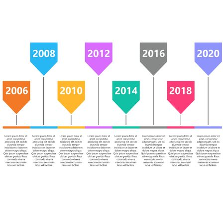retro timeline infographic. road map, infographic template with business timeline. workflow or process diagram on white background.